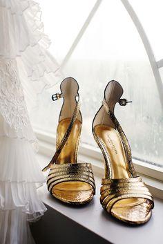 Bottega Veteta Gold Bridal Heels   Nadia D. Photography https://www.theknot.com/marketplace/nadia-d-photography-atlanta-ga-393781   Bottega Veteta   Legendary Events   EllyB Events
