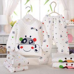 Baby clothing set new autumn winter baby sets 100% cotton button warm good quality baby boy clothes kids underwear for newborn