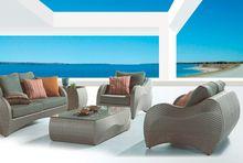 Outdoor sleeper rattan garden sofa JX-2090