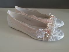 Pretty lace dolly shoes