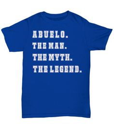 19e57d63 ABUELO personalized tshirt for men The Man The Myth The Baby Shirts, Family  Shirts,