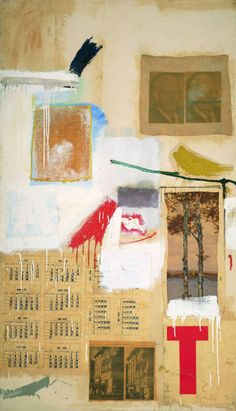 Robert Rauschenberg #abstract expressionism #collage #mixed media