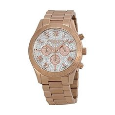 Michael Kors Layton Rose GoldTone Stainless Steel Chronograph Womens watch MK5946 *** Click on the image for additional details.