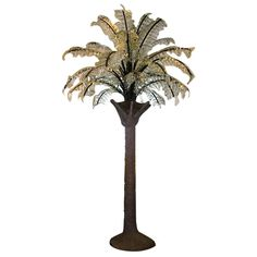 Huge Glass Frond Palm Tree Floor Light | From a unique collection of antique and modern floor lamps at https://www.1stdibs.com/furniture/lighting/floor-lamps/