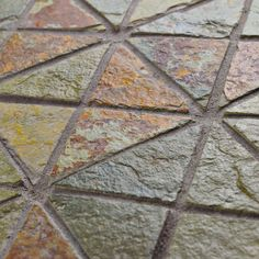 Bring The Beauty Of Nature Into Any Space With The Peak TriSquare Slate Tile  In Sunset