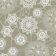 Cotton and Steel - Rashida Coleman-Hale - Spellbound - Doily Web Grey. Halloween Quilt Fabric, Steel House, Japanese Fabric, Grey Fabric, Cotton Quilts, Cotton Fabric, Quilting Projects, Fabric Patterns