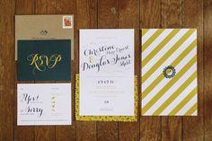 elegant wedding invitations // photo by Love Me Do Photography via ruffledblog.com