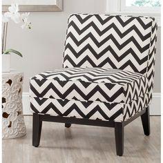 b&w chevron accent chair