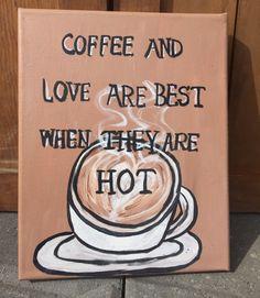 8 x 10 original Coffee Canvas Painting by TheRobinsNestShoppe