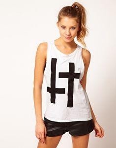 Hearts & Bows Double Cross Boyfriend Vest