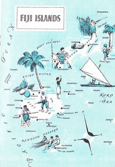 Old Map of Fiji
