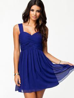 Vestido plisado sin espalda-azul 19.18 Sheinside