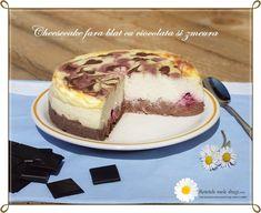 Cheesecake fara blat cu ciocolata si zmeura   Retetele mele dragi Easter Ideas, Tiramisu, Cheesecake, Keto, Ethnic Recipes, Desserts, Food, Tailgate Desserts, Deserts