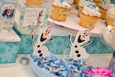 Frozen Birthday Party | CatchMyParty.com-cute way to display candy