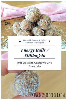 #Stillkugeln für die Mama oder Kinder - eine gute Alternative zu Süssem und co. #Energyballs #blissballs mit #Datteln, #Cashews, #Mandeln und #Kokos liefern viele wertvolle Vitamine und Nährstoffe für #Stillende #Mamas #Sportler #Vegetarier #vegan. Das #Rezept gibts auf dem Blog. #stillballs