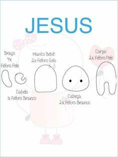 Jesus Crafts, Catholic Crafts, Christmas Nativity, Felt Christmas, Needle Felted Animals, Felt Animals, Felt Crafts, Fabric Crafts, Sunday School Crafts