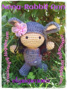 creaciones FOG: Col. Amigus bebés Ann, Nena-rabbit