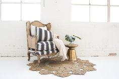 Marigold Rug & Rattan Chair