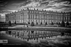Reflets de Versailles BW by SylvainDeshaies. Please Like http://fb.me/go4photos and Follow @go4fotos Thank You. :-)