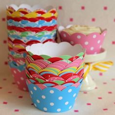 (via Polka-Dots / The Cupcake Wrapper Co — Cupcake Wrappers - Yellow Spot)
