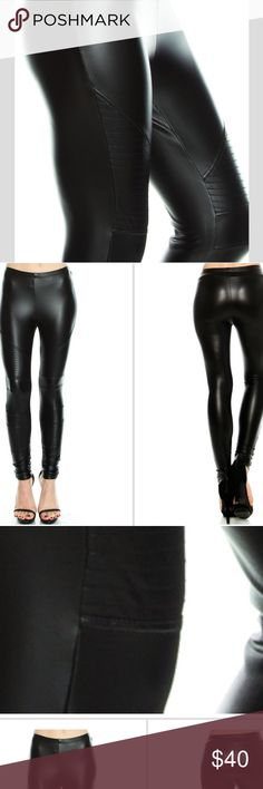 Black sequin leggings A fun twist to a regular pair of leggings, rich looking  True to size  Polyester and spandex blend  Fully lined interior Pants Leggings