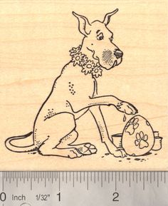 Rubber stamp drawings