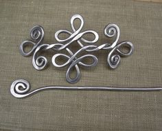 Celtic Knot Double Swirls and Curls Aluminum by nicholasandfelice