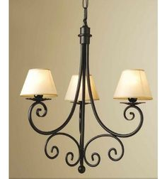 lampara de forja asturias tres luces