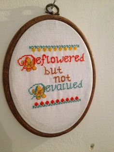 For the Girl's fan in everyone's life | 17 Cross Stitch Patterns For Your Sassy Home