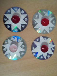 Battens with CD Crafts 🧶 Cute Kids Crafts, Cd Crafts, Christmas Crafts For Kids, Preschool Crafts, Kids Christmas, Holiday Crafts, Diy And Crafts, Christmas Decorations, Paper Crafts