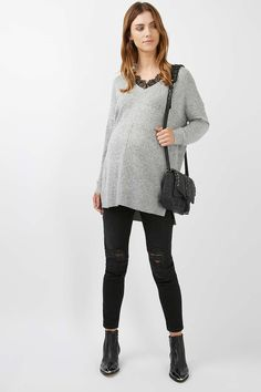 MATERNITY Lace Insert Knitted Jumper