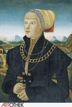 1500-1552 / 53   Conrad Faber von Kreuznach (1495 - 1558) Portrait of Margaret Stralenberg, born Stalburg.  (Bildnis der Margarete Stralenberg, geb. Stalburg. )