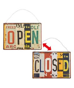 Look at this #zulilyfind! 'Open/Closed' Two-Side Wall Sign #zulilyfinds