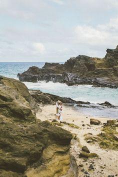 Shpresa + Pascal { Epic Adventurous Oahu Hawaii Destination Wedding at Halona Cove bach park }