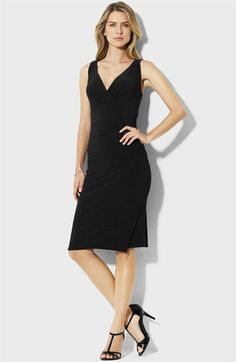 Lauren Ralph Lauren V-Back Jersey Sheath Dress available at #Nordstrom