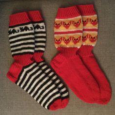 Kissasukat ja kettukarkkisukat. Knitting Socks, Fashion, Knit Socks, Moda, Fashion Styles, Fashion Illustrations