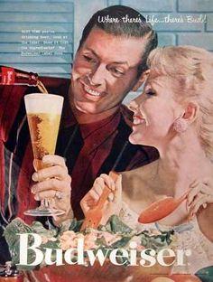 Vintage Bebidas  - Anúncios da década de 1950.