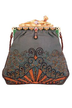 Paul Poiret, 1920's odalisque brocade evening bag by the French jeweler Duval.