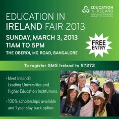 Meet Ireland's leading universities and higher education institutions in Bangalore!