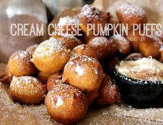 Cream Cheese Pumpkin Puffs!