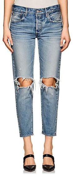 Moussy Women's Latrobe Distressed Crop Jeans