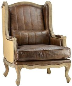 Philip Luxurious Leather Armchair in Top Grain Leather