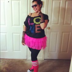 My 80s style outfit for the party