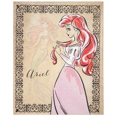Fashionista Ariel Canvas Art Print ($20) ❤ liked on Polyvore featuring home, home decor, wall art, art, disney, pictures, ariel, backgrounds, canvas home decor et stretched canvas