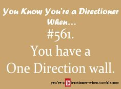 Are you kidding me? I have 4 One Direction Walls, 2 One Direction doors and a one direction ceiling.