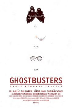 Alternative movie poster for Ghostbusters by Duke Dastardly
