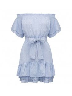 Penny Dobby Poplin Dress Back Image