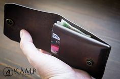 Leather slim wallet / credit card holder by KampLeatherwork