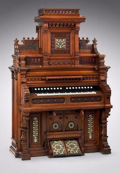 Estey pipe organ, c. 1878. Courtesy of the Museum of Fine Arts in Boston.