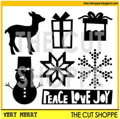 The Very Merry cut file set includes 7 Christmas by TheCutShoppe